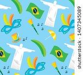background corcovado flag horn...   Shutterstock .eps vector #1407345089