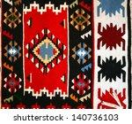 colorful serbian peruvian style ... | Shutterstock . vector #140736103