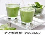 Spinach Smoothies In Glass On ...