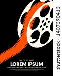 movie and film poster modern...   Shutterstock .eps vector #1407390413