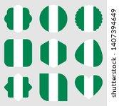 flags nigeria africa...   Shutterstock .eps vector #1407394649