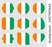 flags c te d'ivoire africa...   Shutterstock .eps vector #1407395663