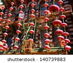 chinese new year decorations in ... | Shutterstock . vector #140739883