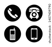 telephone icons set on white... | Shutterstock .eps vector #1407409790