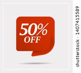 special offer sale red tag.... | Shutterstock .eps vector #1407415589