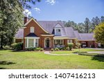large red brick traditional... | Shutterstock . vector #1407416213