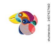 vector illustration colorful... | Shutterstock .eps vector #1407427460