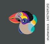 vector illustration colorful... | Shutterstock .eps vector #1407439193