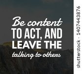 inspirational quote  best... | Shutterstock . vector #1407443876