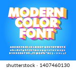 modern font effect with... | Shutterstock .eps vector #1407460130