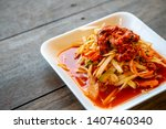 "papaya salad or what we call ""... | Shutterstock . vector #1407460340"