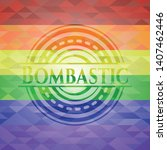 bombastic emblem on mosaic...   Shutterstock .eps vector #1407462446