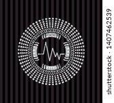 electrocardiogram icon inside... | Shutterstock .eps vector #1407462539