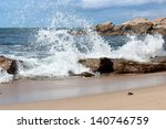 Indian Ocean Waves Crashing...