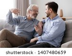 smiling senior father sit on...   Shutterstock . vector #1407480659