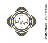 electrocardiogram icon inside... | Shutterstock .eps vector #1407495833