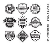 business badges vector set in... | Shutterstock .eps vector #1407511466