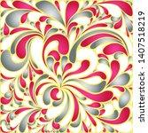 silk texture fluid shapes ...   Shutterstock .eps vector #1407518219
