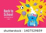back to school sale banner ... | Shutterstock .eps vector #1407529859