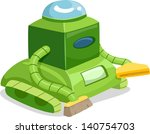 illustration of a robot cleaner ... | Shutterstock .eps vector #140754703