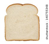 Slice Of White Bread Isolated...