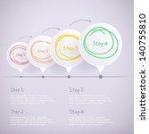 modern design template step by... | Shutterstock .eps vector #140755810