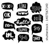 vector set of speech bubbles in ... | Shutterstock .eps vector #1407567140