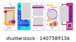 stories giveaway post. give... | Shutterstock .eps vector #1407589136
