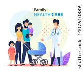 professional family healthcare... | Shutterstock .eps vector #1407610889