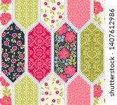 template seamless abstract...   Shutterstock .eps vector #1407612986