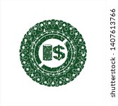 green stack of coins icon... | Shutterstock .eps vector #1407613766