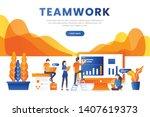 landing page website template...   Shutterstock .eps vector #1407619373
