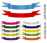 ribbon set | Shutterstock . vector #140762038