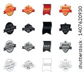 vector design of emblem and... | Shutterstock .eps vector #1407620930