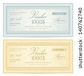 gift certificate   voucher... | Shutterstock .eps vector #140762740