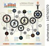modern business concept   info...   Shutterstock .eps vector #140763370