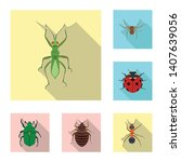 vector design of insect and fly ...   Shutterstock .eps vector #1407639056
