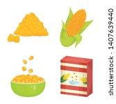vector illustration of maize... | Shutterstock .eps vector #1407639440