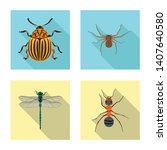 isolated object of insect and...   Shutterstock .eps vector #1407640580