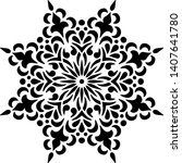 mandala pattern stencil doodle...   Shutterstock .eps vector #1407641780