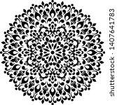 mandala pattern stencil doodle...   Shutterstock .eps vector #1407641783