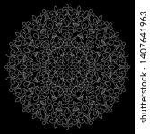 mandala pattern white doodles...   Shutterstock .eps vector #1407641963