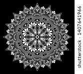 mandala pattern white doodles...   Shutterstock .eps vector #1407641966