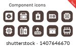 component icon set. 10 filled... | Shutterstock .eps vector #1407646670
