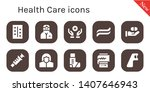 health care icon set. 10 filled ... | Shutterstock .eps vector #1407646943