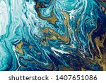 blue liquid marble surfaces... | Shutterstock . vector #1407651086