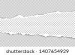 horizontal torn paper edge.... | Shutterstock .eps vector #1407654929