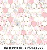 vector seamless geometric... | Shutterstock .eps vector #1407666983