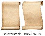 paper or parchment scrolls set... | Shutterstock . vector #1407676709