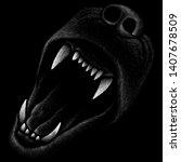 the vector logo animal howling...   Shutterstock .eps vector #1407678509